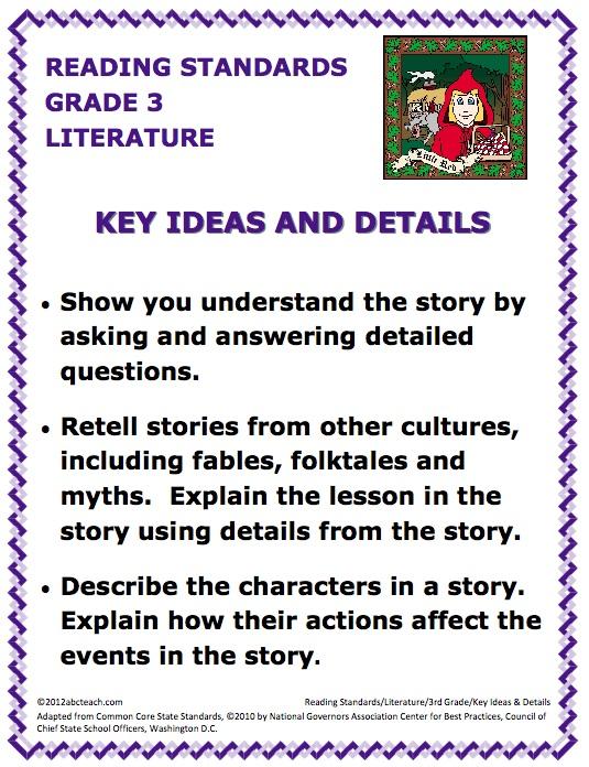 Common Core Reading - Grade 3