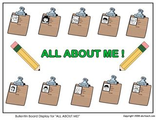 All About Me Bulletin Board