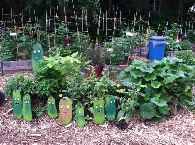 Altgeld Sawyer Corner Farm, featuring Pickle Worry garden art by Jason Waclawik